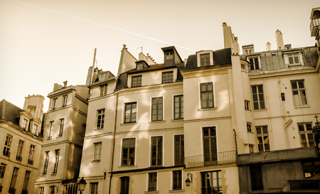 Typical appartment building in Paris