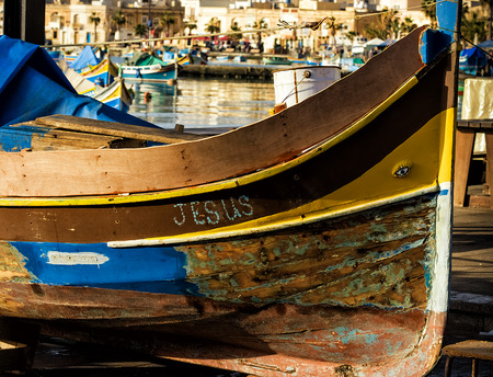 Traditional Maltese boat Stock Photo