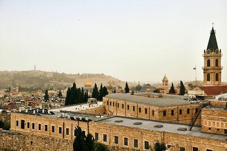 Old city of Jerusalem panoramic view, Israel Standard-Bild