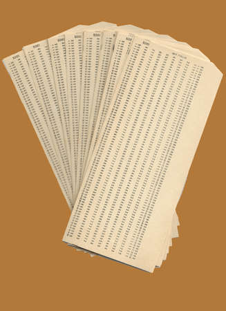 Ream of blank punched cards for the firsts mechanographic calculators