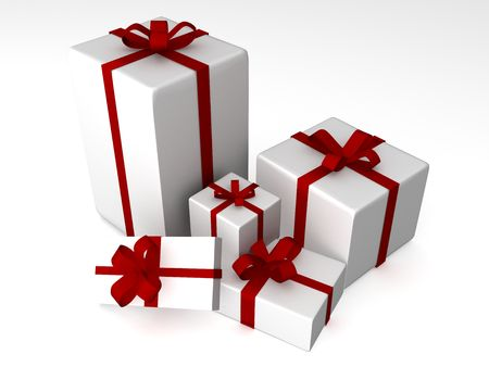 3d gift box illustration on a white background Stock Photo