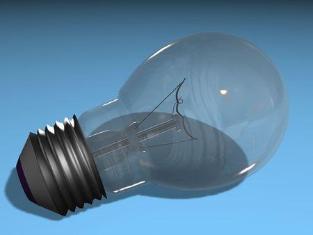 smart goals: Light Bulb 3D on a blue background