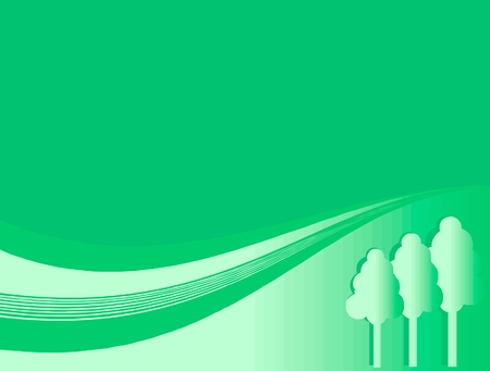 trees on a green background Vector