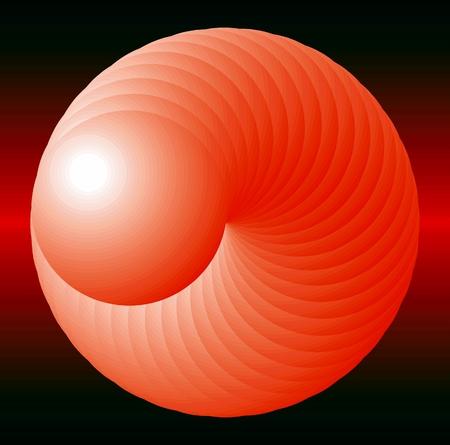 red sphere: vettore astratto palla rossa