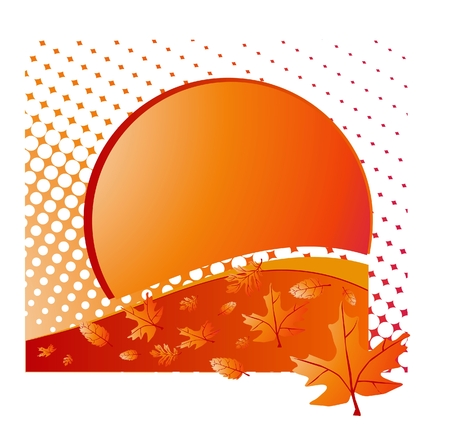 blustery: autumn leaves of a maple a vector illustration