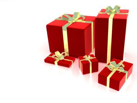 3d gift box illustration on a white background illustration