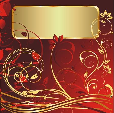 ゴールド色のテキストのブロックで飾りを栄養  イラスト・ベクター素材