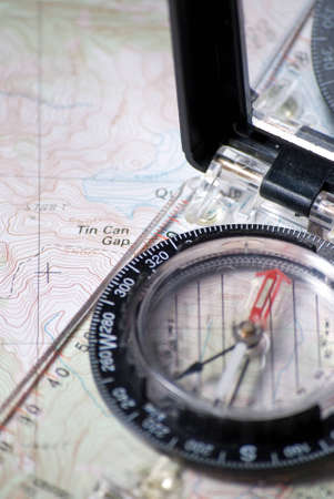 Compass and Map Stock Photo - 15853259