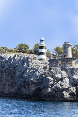 horizont: Port of Soller Lighthouse in Balearic Island