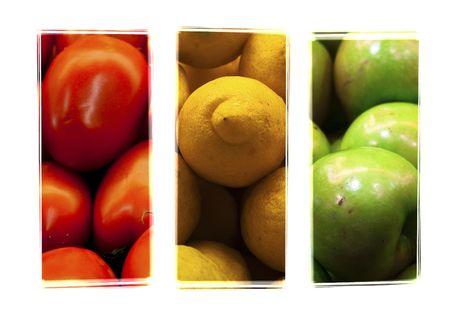 triptych: Fruit Traffic Light