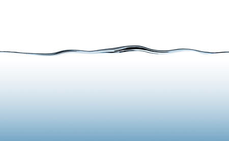 Blue flowing water wave with deep water gradient Stock Photo