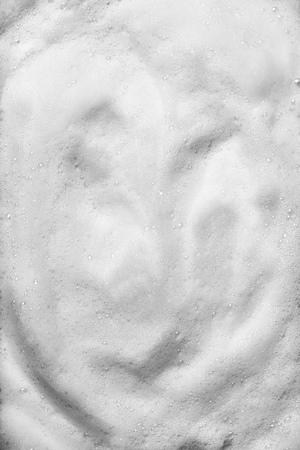 Abstract white foam soap bubble background Reklamní fotografie
