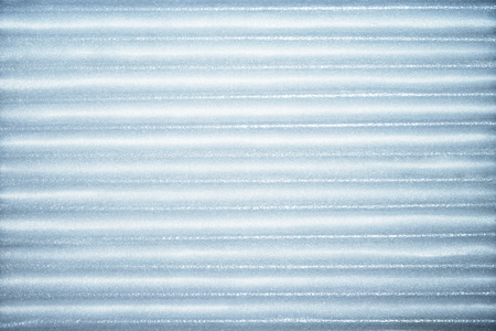 Blue corrugated metallic texture industrial abstract pattern background with ridges Reklamní fotografie