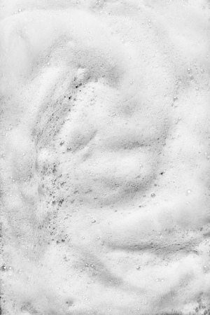 Abstract white foam soap bubble background Stock Photo