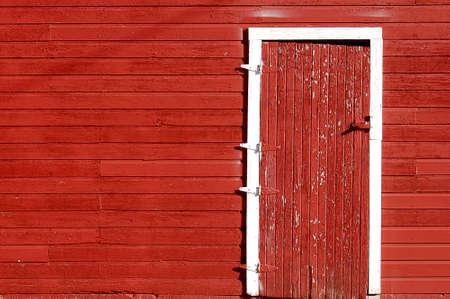 Deur van het Rode Schuur in Kansas Farm & Ranch