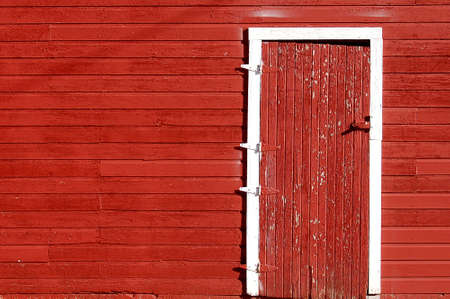 barn doors: Door of Red Barn at Kansas Farm & Ranch