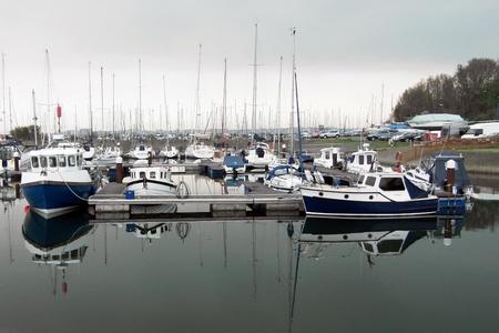 Boats in a marina Editorial