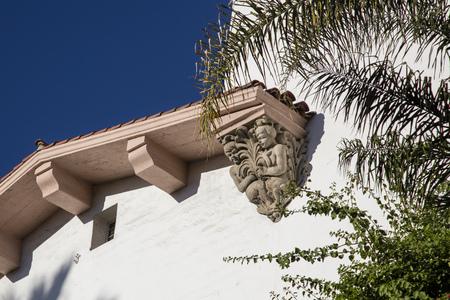 Architectural sandstone detail closeup