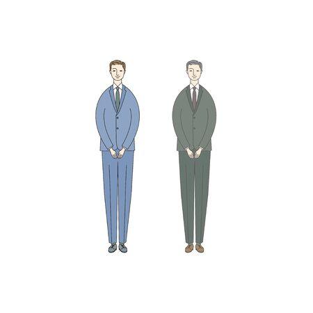 Men Bowing (businessman)