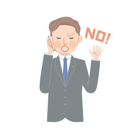 Businessman says no on the phone! Stock fotó - 127039222