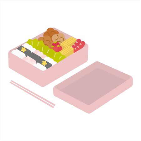 Girl's Karame bento (lunch menu)