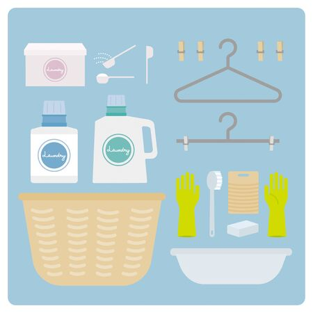 Hand washing set Illustration