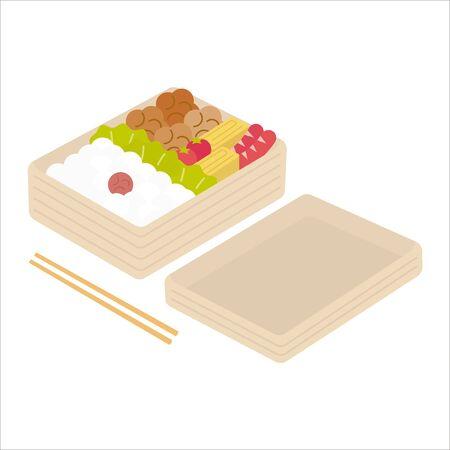 Karaage Bento (Lunch Menu) 向量圖像