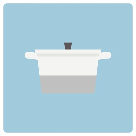 White and gray simple pot Illustration