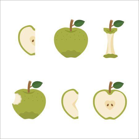 Fruit: Green Apple (Variation) Foto de archivo - 130315586