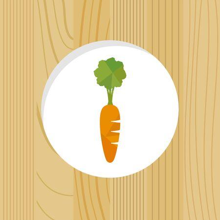 vegetable - carrot & wood frame