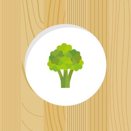 vegetable - broccoli & wood frame Ilustrace