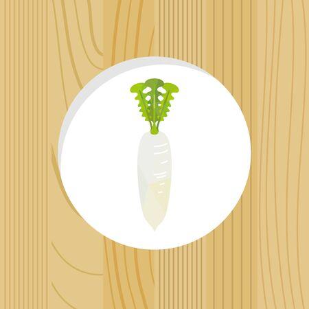 vegetable -Chinese radish wood frame
