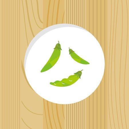 vegetable - Split Pee & Garden peas - wood frame