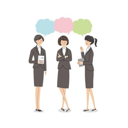Three Working Women Having a Conversion - Vector (Fill) Vector Illustratie