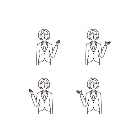 Business: Pointing At Something · Hand Gestures · Women (fill)