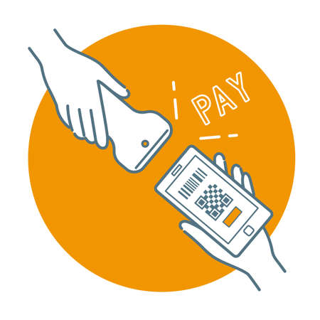 Cashless Payment: Read the QR code on smartphone (strle&fill)