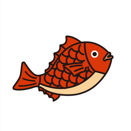 Seasonal material: Red snapper of lucky charm(fill)