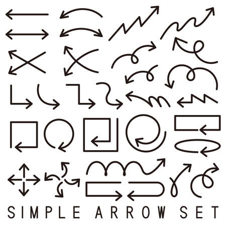 Material: Simple arrow variation set(vector)