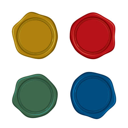 Material: Antique sealing wax (4 color set) Vektorgrafik