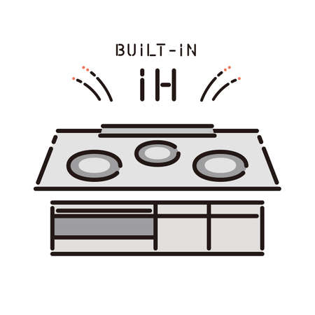 Housing equipment: IH cooking heater (built-in)