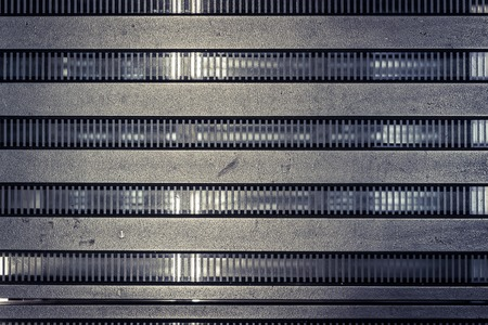 girders: Struktur Metall Architektur, frontal view of the structure Stock Photo