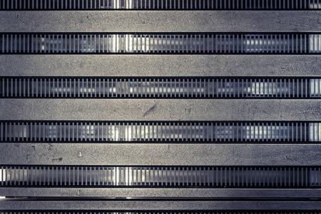 strut: Struktur Metall Architektur, frontal view of the structure Stock Photo