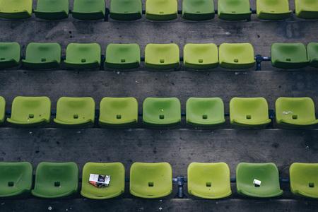Grüne Sitze im Stadion München Deutschland