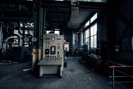 old lost abandonend industrial factory building powerhouse
