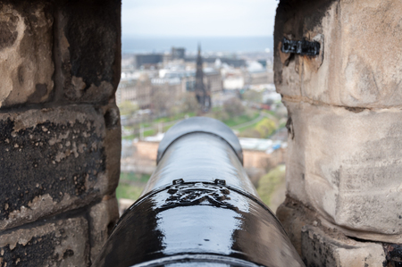Canon view from Edinburgh Castle, Scotland Stock Photo