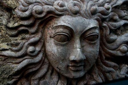 Hindu wood carving