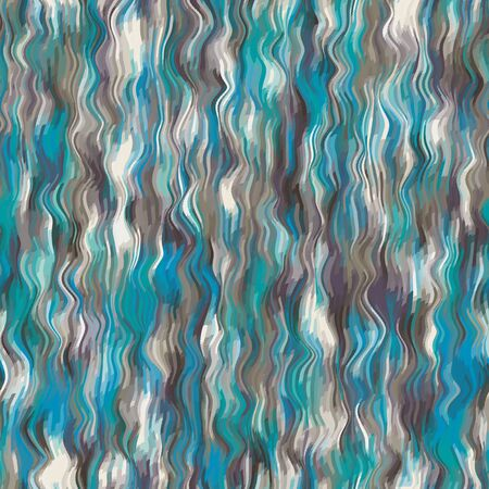 Water waves curving lines seamless pattern