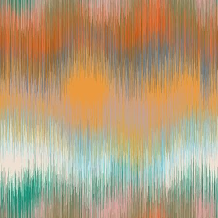 Soft blurry ikat gradient ombre seamless pattern