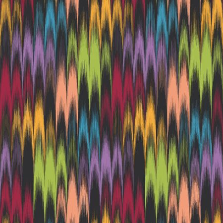Combed Hand Marbled Paper Colorful Pattern Swatch