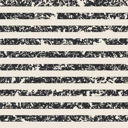 Distressed stripe pattern in black and cream